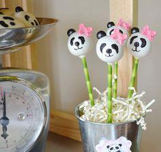 Cute Panda Bear Cake Pops from this Panda Bear Tea Party via Kara's Party Ideas | Cake, decor, cupcakes, games and more! KarasPartyIdeas.com #pandabearparty #bearparty #pandaparty #pandabearteaparty #partydecor #partyplanning #partystyling #karaspartyideas (33)