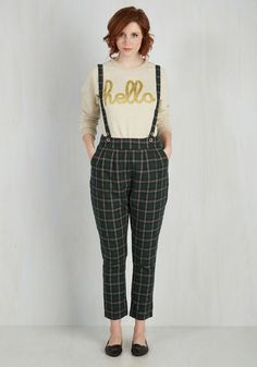 1950s 1960s plaid pants. Check it Haute Pants $79.99 AT vintagedancer.com