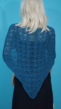 Hand Knit Wool Blend Women's Extra Large Lace by BlackSheepSisters, $110.00