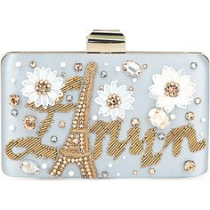 Clutch- LANVIN Embellished box clutch; looks so dainty and sweet