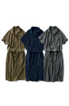 Fashion collection[ファッションコレクション]|ミルブロウズ ゆるピタシルエットで女度を上げる 衿付きパイルワンピースの会|フェリシモ