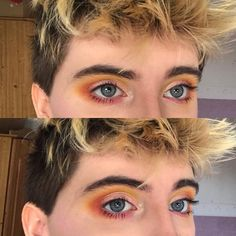 i wanted to show this from more angles so just a reminder boys wear makeup too! Makeup Stuff, Cute Makeup, Boys Wearing Makeup, Lydia Beetlejuice, Channel Makeup, How To Match Foundation, Magic Eyes, Just A Reminder, Aesthetic Makeup