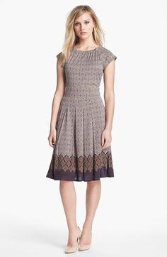 silk dress in almond