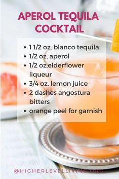Delicious Tequila Cocktails for Cinco De Mayo - Higher Level Living Tequila Sunrise Ingredients, Margarita Ingredients, Cocktail Ingredients, Tacos And Tequila, Tequila Drinks, Cocktails, Tasty Tacos Recipe, Tequila Recipe, Strawberry Tequila