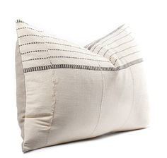 African White Mudcloth Pillow Cover Boho Pillow Cream