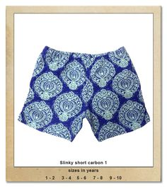 Sillybilly© clothing: Slinky short carbon 1 Summer Collection, Boho Shorts, Trunks, Girls, Clothing, Swimwear, Blue, Women, Fashion