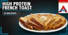 What's for BREAKFAST? How about HIGH PROTEIN FRENCH TOAST?? Check out this delicious recipe! What's For Breakfast, Atkins, High Protein, French Toast, Yummy Food, Nutrition, Check, Recipes, Delicious Food