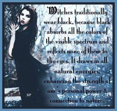 Why Witches Wear Black...