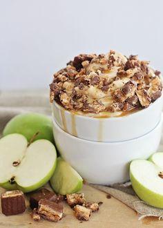 Snickers + Caramel Apple Dip