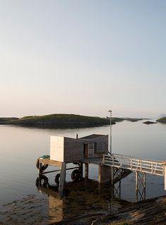 Artist retreat at island Fleinvær. Outdoor Furniture, Outdoor Decor, Sun Lounger, Scandinavian, Minimalism, Island, Building, Modern, Arctic