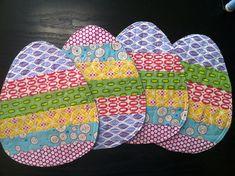 four easter egg mug rugs. | sarah lidbom | Flickr