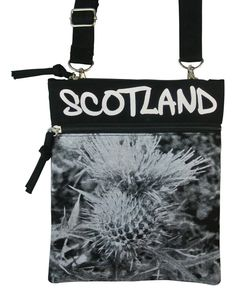 Oliver Strappy Bag with Thistle design and Scotland Graffiti