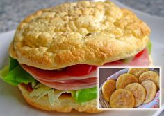 Low Fat Recipes Low Carb Burgerbrötchen 'Oopsies' (recipe with picture) Low Fat Low Carb, High Protein Low Carb, Low Carb Keto, Low Carb Recipes, Burger Bread, Low Carb Burger Buns, Dieta Low, Dieta Paleo, Homemade Burgers