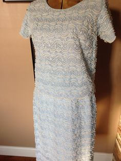 Hand Beaded Suit  2000+ pearls, Unbelieveable Workmanship Womens  Size 36