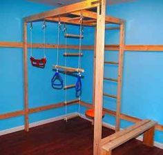 homemade indoor jungle gym - Google Search