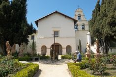 Mission San Juan Bautista, CA. About 45 min s. from Monterey and San Jose.
