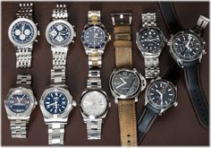 http://www.bernardwatch.com/Whats-New-871 We feel today's update is particularly exceptional with a great mix of classic and modern pieces.  A two-tone Rolex Submariner next to Datejust II, pair of Breitling Navitimers next to a nearly new Avenger and Aerospace.  A trio of Omega Seamasters and a vintage looking, but recent Panerai PAM 312.