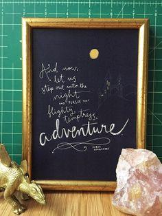 Original Kunstdruck Harry Potter Zitat von BillieClaireHandmade