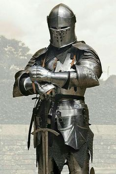 Medieval armor:The Knight Medieval Weapons, Medieval Knight, Medieval Fantasy, Armadura Medieval, Knight In Shining Armor, Knight Armor, Ancient Armor, Templer, Landsknecht
