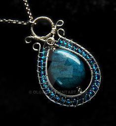 Blue Soho Jasper pendant by OlgaC.deviantart.com on @DeviantArt