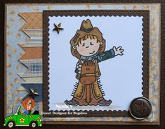 A Theme Challenge -Cowboys and Cowgirls Bugaboo, Cowboy And Cowgirl, Cowboys, Challenges, Play, Cards, Fictional Characters, Maps, Playing Cards