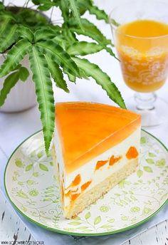 Cheesecake with mandarins Gotuję, bo lubię Polish Desserts, Polish Recipes, Sweet Desserts, Sweet Recipes, Food Cakes, Cupcake Cakes, Cheesecake Recipes, Dessert Recipes, Summer Cakes