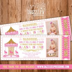 Carousel Party Invite