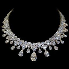 Estate Diamond Necklace, 150 Carats! I am singing in my Best Marilyn voice. Diamonds...stunning..breathtakingly beautiful !!!!!!