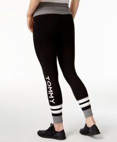 Tommy Hilfiger Sport Logo Leggings, A Macy's Exclusive - Black S