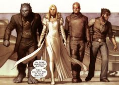 X-Society | Earth-889 | Doctor McCoy, Emmeline Frost, Scott Summers and Logan | Beast, Emma Frost, Cyclops and Wolverine