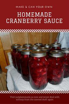 Have you ever made homemade cranberry sauce? It's easier than you think and so much better than the canned stuff - you'll never buy the can again. via @justplainmarie
