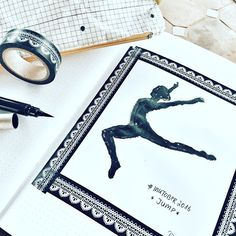 Day 10 #inktober2016 *jump* .  #jump #dance #ballerina #inking #drawing #drawingoftheday #drawingchallenge  #drawinginspiration #tinte #pentel #pentelpocket #brushpen  #washitape @inktober #sketchnotes #sketchnotesbydiana #germanbujojunkies