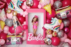 Barbie Party Decorations, Barbie Theme Party, Barbie Birthday Party, 5th Birthday Party Ideas, Birthday Diy, Birthday Decorations, Bolo Barbie, Barbie Box, Balloons
