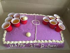 Beer pong cake