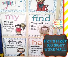 Sight word sentence wall. Kids will have so much fun reading the room or focus wall with these sight word sentence posters. Tip: Create a sight for focus wall for the posters and have students take turn during centers highlighting or dabbing the target word word. Have students use a finger pointer to read the sentences and call out the words. Some many fun ways to use.$