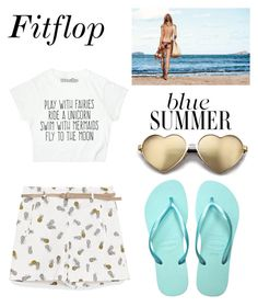 """summer time"" by pandastudio1 ❤ liked on Polyvore featuring Ananas, Havaianas and Wildfox"