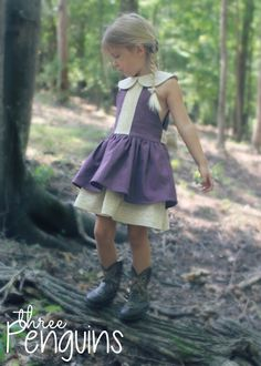 three penguins- the Seraphina dress/tunic pattern by Honeydew Kisses