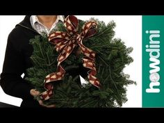 How to make a bow for a wreath - Bing video