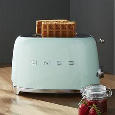 Smeg Pastel Green 2-Slice Retro Toaster   Crate and Barrel