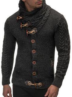 LEIF NELSON Herren Strickjacke Strick Jacke Grobstrick LN4195 in Kleidung & Accessoires, Herrenmode, Pullover & Strick | eBay
