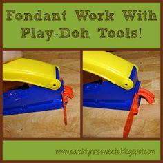 Use Play-Doh Tools to Work with Fondant much cheaper than the tools meant for the same.