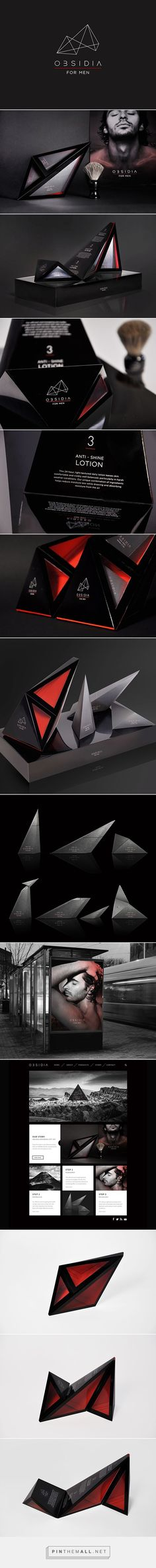 OBSIDIA for men on Behance curated by Packaging Diva