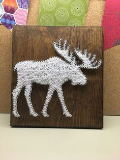 String Art Moose Moose decor Woodland Nursery Woodland Baby