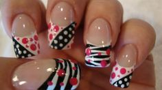 these are what my nails look like this week, I have such a great Nail Tech she does such cute ideas