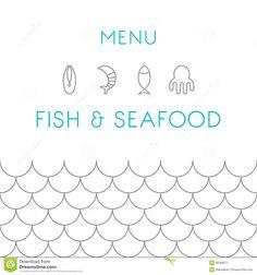 restaurant menu pattern seafood - Αναζήτηση Google