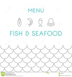 restaurant menu pattern seafood - Αναζήτηση Google