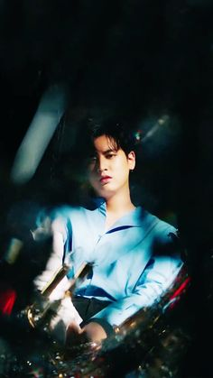 chanu from Killing Me teaser 💙🔥 Kim Jinhwan, Chanwoo Ikon, Rapper, Winner Ikon, Ikon Wallpaper, Fandom, Best Kpop, I Icon