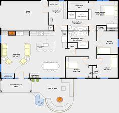 Garage house plans, shop house plans, pole barn house plans, ca Pole Barn House Plans, Garage House Plans, Pole Barn Homes, Shop House Plans, House Floor Plans, 40x60 House Plans, Pole Barns, Shop Plans, Metal Building Homes