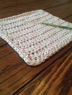 Beginning Crochet Simple Crochet Dishcloth Pattern - Crochet Unique, Easy Crochet, Crochet Hooks, Knit Crochet, Crotchet, Free Crochet, Crochet Blankets, Tunisian Crochet, Crochet Stitch