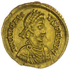 Arcadius 383 - 408 Solidus Gold  Römische Kaiserzeit